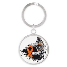 Hope Multiple Sclerosis Round Keychain