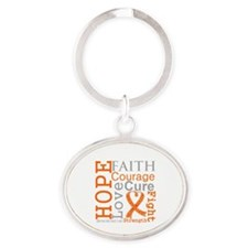 Multiple Sclerosis Faith Oval Keychain