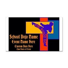 Tae Kwon Do Power Kick Rectangle Car Magnet