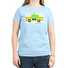 Wee Big New York Cab! Women's Pink T-Shirt