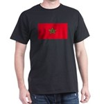Morocco Moroccan Blank Flag Black T-Shirt