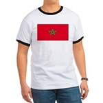 Morocco Moroccan Blank Flag Ringer T