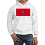 Morocco Moroccan Blank Flag Hooded Sweatshirt