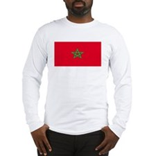 Morocco Moroccan Blank Flag Long Sleeve T-Shirt