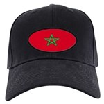 Morocco Moroccan Blank Flag Black Cap