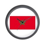 Morocco Moroccan Blank Flag Wall Clock