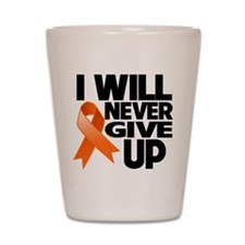 Never Give Up Multiple Sclerosis Shot Glass