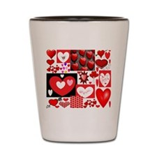 Collage of Hearts Shot Glass
