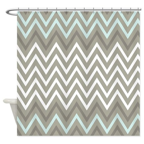 Bold Gray Chevron Stripe Zigzags Shower Curtain By Chevroncitystripes