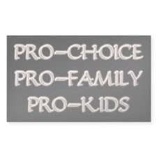 Pro-Choice, Family, Kids Rectangle Decal