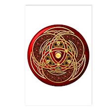 Celtic Medallion - Red Postcards (Package of 8)