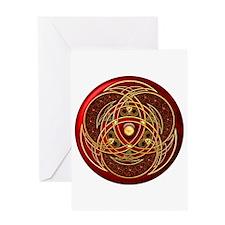 Celtic Medallion - Red Greeting Card