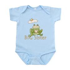 Big Sister Frog Infant Bodysuit