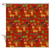 Zulu Warrior Shower Curtain