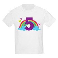 5th Birthday Rainbow T-Shirt