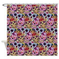 Flower Skulls Shower Curtain
