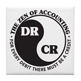 Zen of Accounting Tile Coaster