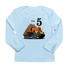 Monster Logging Truck Birthday Long Sleeve Infant