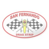 San Fernando Drag Strip Oval Decal