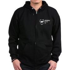 Jackson Hole Arrowhead Badge Zip Hoodie