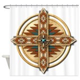 Native American Mandala 03 Shower Curtain