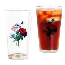 Pierre-Joseph Redoute Anemones Drinking Glass
