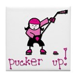 Pucker Up Tile Coaster