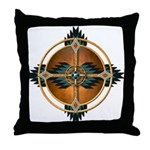 Native American Mandala 05 Throw Pillow