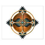 Native American Mandala 05 Small Poster