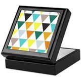 Multi-Colored Triangles Keepsake Box