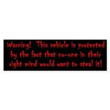 Anti Theft Bumper Sticker