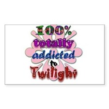 Totally addicted! Sticker (Rectangle)