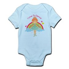 Ballerina I Love To Dance Infant Bodysuit