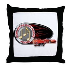Corvette Car Audio Throw Pillow
