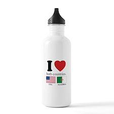 USA-ALGERIA Water Bottle