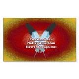 Native Blood Oval Bumper Stickers