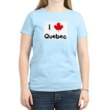 I Love Quebec Women's Pink T-Shirt