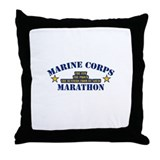 Marine Corps Marathon Throw Pillow