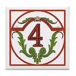 Red Spanish Letter Tile 4 Tile Coaster