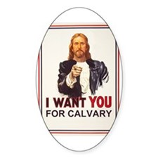 I want YOU Oval Decal