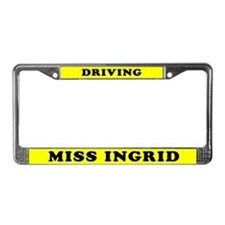 Driving Miss Ingrid License Plate Frame