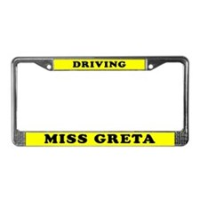 Driving Miss Greta License Plate Holder