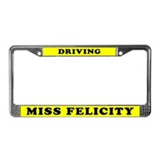 Driving Miss Felicity License Plate Holder
