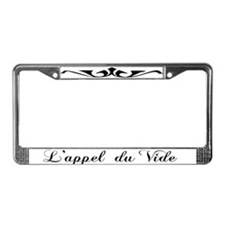 L'appel Du Vide License Plate Frame