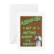 Assholism Greeting Card