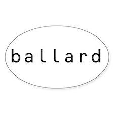 Ballard Shirts! Oval Decal