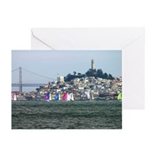 sf bay spinnakers   Greeting Cards (Pk of 10)
