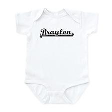 Black jersey: Braylon Infant Bodysuit