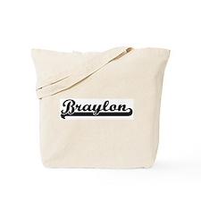 Black jersey: Braylon Tote Bag