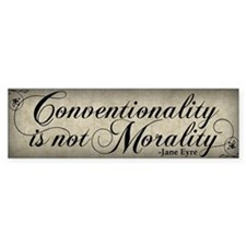 Conventionality Is Not Morality Stickers